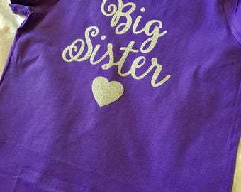 Big sister tee shirt perfect gift for the new big sister tee