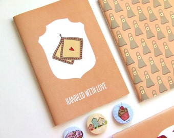 Handled with Love - Blank A5 Notebooks - Journal