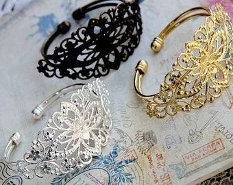 4 pcs of bracelet  with brass filigree -5509-sterling silver