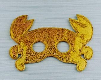 Shiny Crab Mask - Gold Mask - Crab Mask - Moana Crab Mask - Halloween Party Mask - Seaside Crab - Tamatoa Crab - I am shiny crab mask