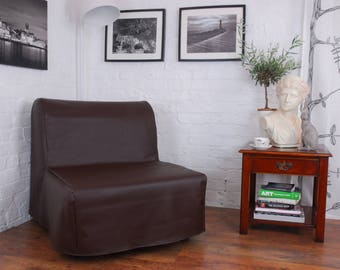 Ikea Lycksele Chair or Double sofa Bed Cover in Faux Leather Look fabric. 5 colours available