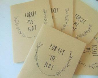 Illustrated sketchbook- sketch pad- kraft book- Forget Me Not- blank notebook - blank sketch book - leaving gift - a5 book - travel journal