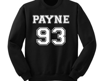 Payne 93 Sweatshirt, Liam Payne One Direction Sweater, One Direction Sweat Shirt Band Shirt, Crew Neck Fangirl Shirt, Black Grey White