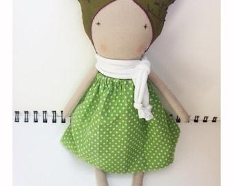 Soft doll - Cloth doll - Heirloom doll - Art doll