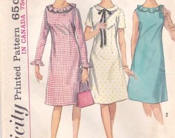 Darling A-Line Dress Pattern Simplicity 5910 Teen Size 12 Bust 32