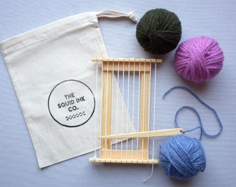 Mini Wooden Weaving Loom Kit (The Highlands Collection)