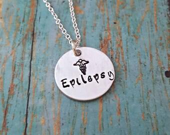 Epilepsy Necklace - Epilepsy Jewelry - Epilepsy - Epileptic - Epilepsy Awareness - Medical Alert - Medical Necklace - Awareness Jewlery