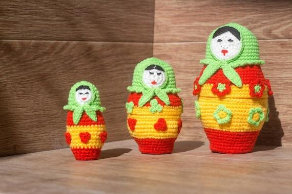 Amigurumi Russian Doll Pattern : Russian doll amigurumi crochet pattern pdf babushka pattern