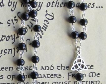 Black Pentagram Rosary