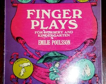 vintage book ... FINGER PLAYS for Nursery and Kindergarten ...