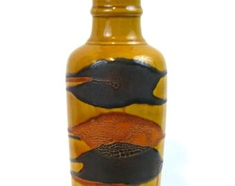 Royal Haeger Marigold Agate Earth Graphic Wrap Vase