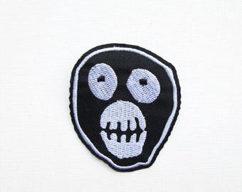 Mighty Boosh Face Embroidered Patch, Iron on, Zooniverse, Boosh face, Zoo, Logo, TV show, Fan, Fandom, Comedy, Badge, Fashion, Jacket