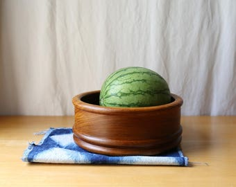 Mid Century Teak Bowl // Fruit Bowl // Housewarming Gift