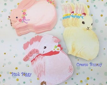 Very Cute Bunny and Piggy Gift Cards!
