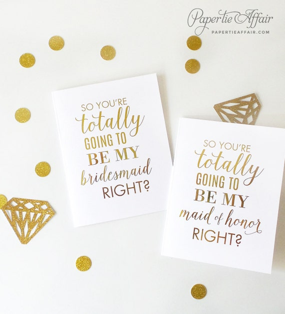Funny Bridesmaid Proposal Will You Be My Bridesmaid Cards