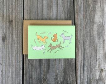 Blank Dog Note Card Set, Dog Lover Cards, Dog Thank You Cards