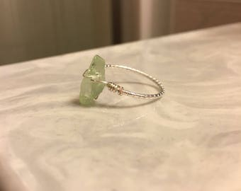 Gorgeous Seafoam Green Beach Glass Ring