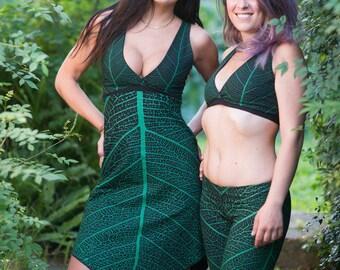Leafie Dress - Elf Dress - Faerie Dress - Fairy Dress - Pixie Dress - LARP Costume - Forest Fairy