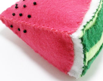 One watermelon play fruit slice