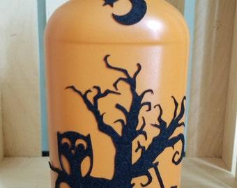 Orange  Halloween Bottle
