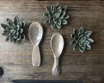 Beige Handmade Spoons