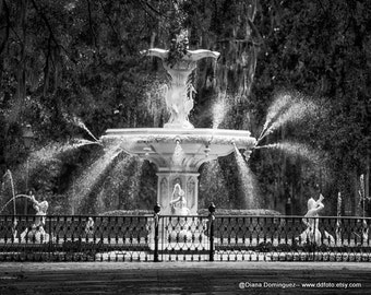 Savannah GA Photos, Forsyth Park Fountain, Fine Art Photography of Georgia, GA Prints, Photography Print Savannah Georgia