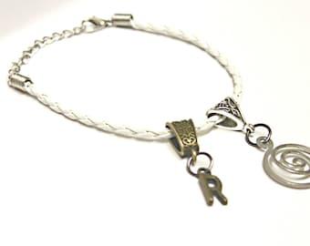Initial bracelet, Friendship bracelet, Personalise, Bronze Letter bracelet, Woven bracelet, Swirly bracelet, Initial letter charm