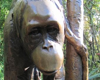 Monkey Sculpture item #4017