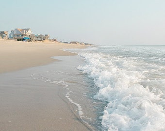 Ocean Photography, Beach Photograph, Coastal Wall Art, Sea, Waves, Nautical Wall Art, Seascape Decor, Summer Print - Walking in the Waves