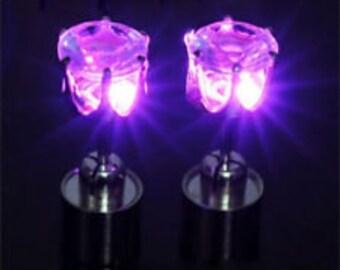 Pink LED Earrings by Platube