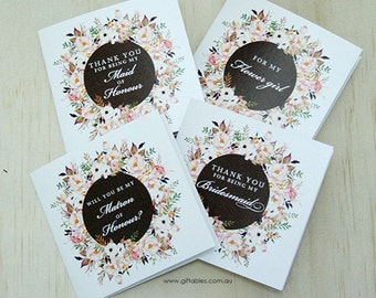 Bridal Party Gift Cards - Wildflower