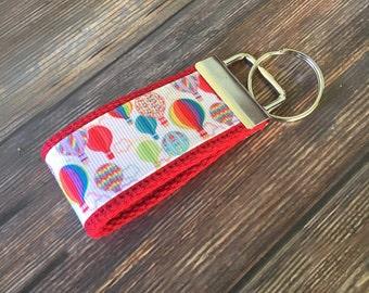 Hot Air Balloon Key Fob Wristlet / Key Chain