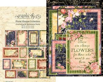 Graphic 45-Floral Shoppe Ephemera Journaling Cards