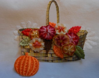 "A Crazy Quilting Embellishment "" Fall Basket"""