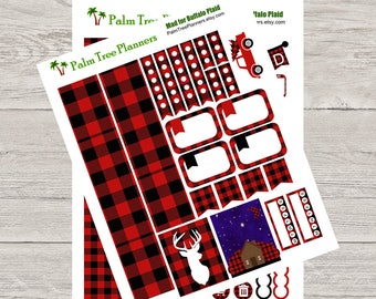 Mad for Buffalo Plaid Planner Stickers Weekly Kit
