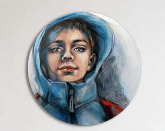 Custom portrait, Original acrylic painting