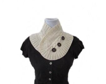 Lavender Scarflette Knitting Pattern - Knit Scarf with Buttons pattern