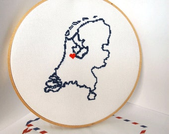 8 Inch Wooden Embroidery Hoop - Cross stitch supplies- blank Wooden Hoops