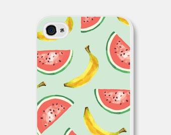 Mint iPhone 6 Case - Watermelon iPhone 6 Case - Fruit iPhone Case - Banana Phone Case - Banana iPhone 6 Case - Mint iPhone 5 Case Watermelon