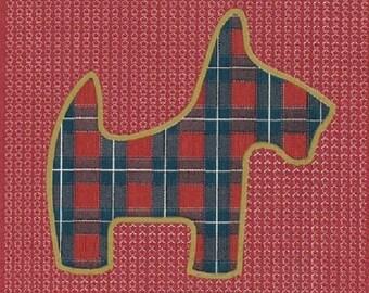 180 TOWEL in paper dog SCOTTISH 25 x 25 cm