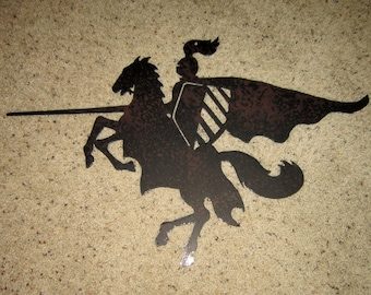 Knight on Horseback-Metal Art-steel art-equine art-horse