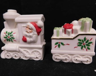 Lenox and Waterford Christmas Salt and Pepper Shakers- Two Sets for your Christmas Table- with Reduced Shipping