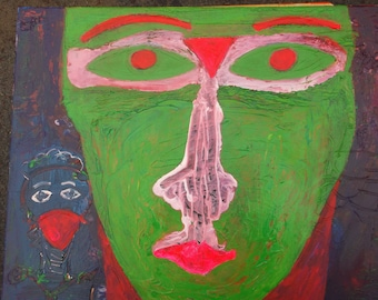 V Alien Looking At You painting by Charlie McComber