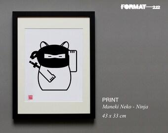 Maneki-Neko - Japanese Fortune Cat - Ninja