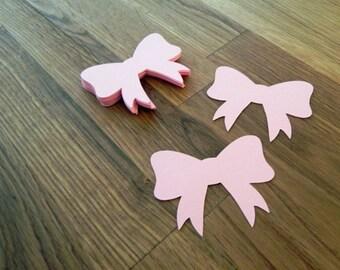 Die cut pink bows 25 photo prop party decoration punch die cut pink bows 25 photo prop party decoration punch cutout card colourmoves
