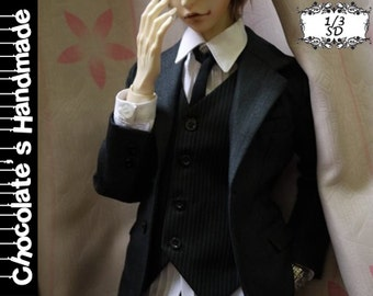 BJD Pattern SD 1/3 suit set with shirt jacket and pants trousers E-Pattern