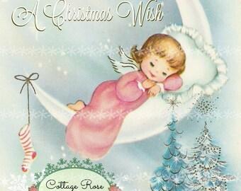 Pink Angel Christmas Wish Large digital download Printable ECS buy 3 get one free ECS SVFTEAM