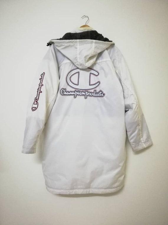 CHAMPION LOGO Large Vintage BIG Jacket Size Long 90s 5qz1gwA