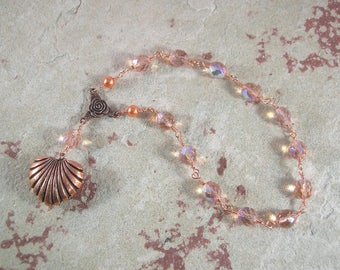 Aphrodite Wire-Wrapped Pocket Prayer Beads: Greek Goddess of Love and Beauty