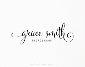 Premade Typography Logo - Photography Logo and Watermark Design - Business Branding - Small Business Watermark Logo - 140